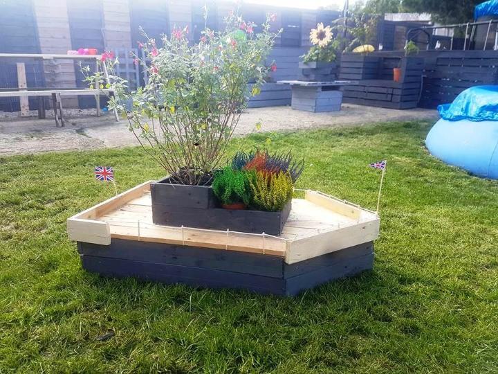 wooden pallet boat planter