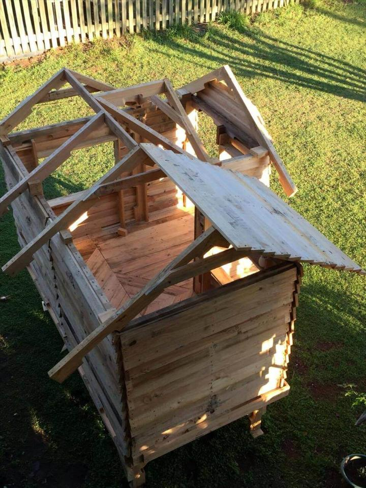 how to build a cubby house out of pallets