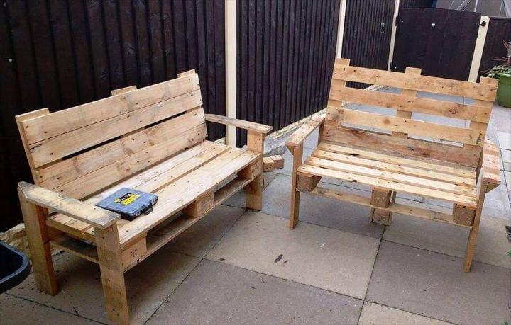 wooden pallet patio