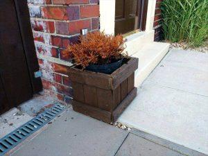 Front Door Pallet Planter Box