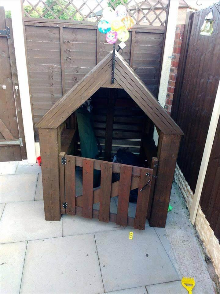 wooden playhouse made of pallets