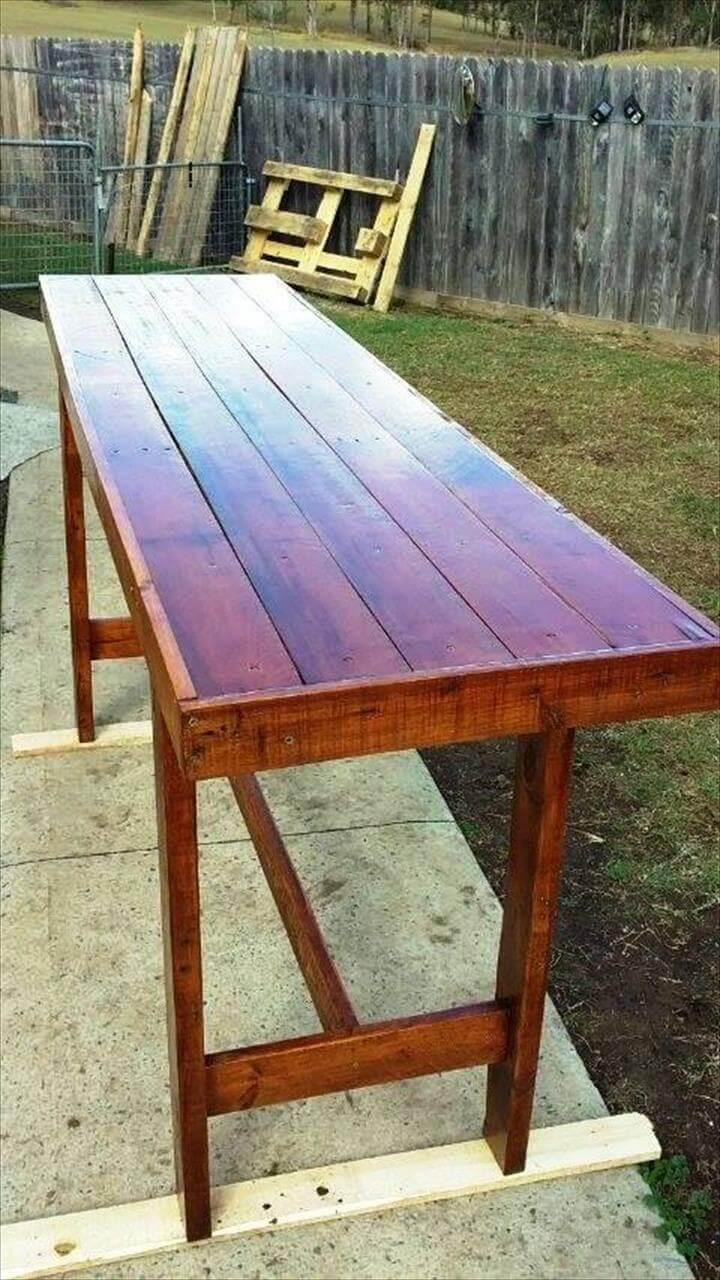 wooden pallet console