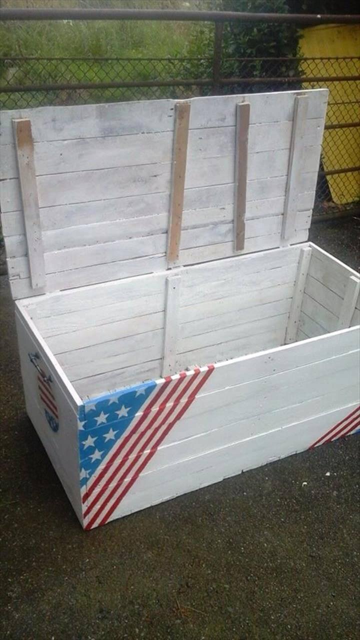 personalized pallet storage chest