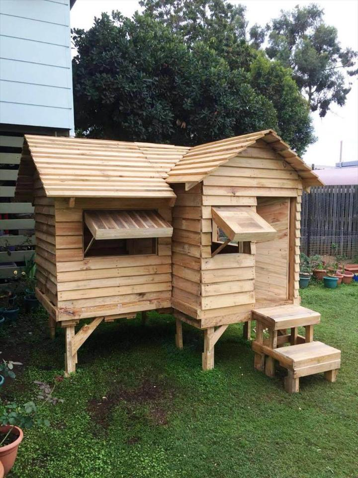 self-installed bungalow style cubby house