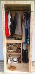 Built a Pallet Wardrobe or Pallet Closet