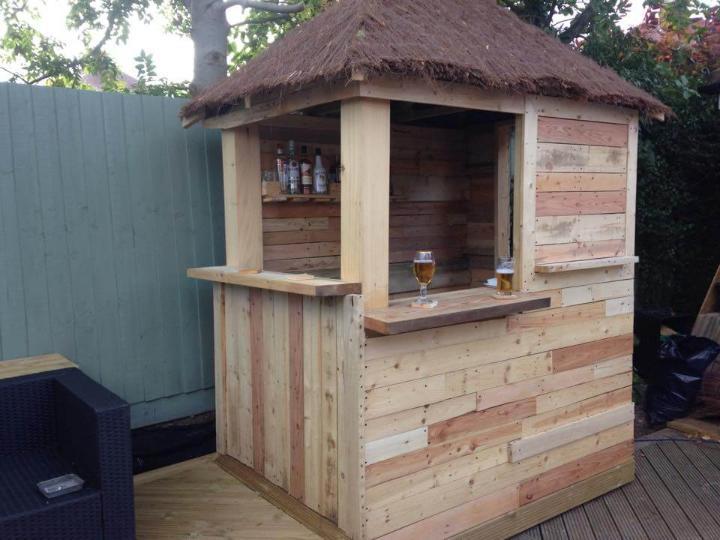 wooden pallet deck bar