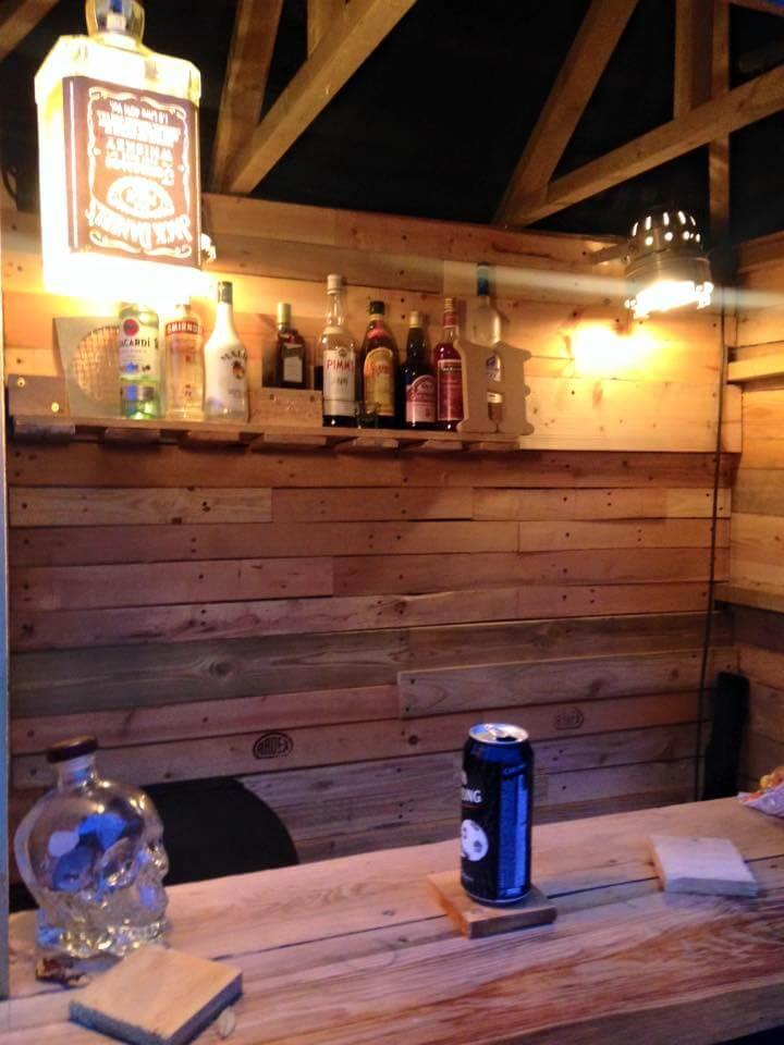 wooden pallet deck bar made of pallets