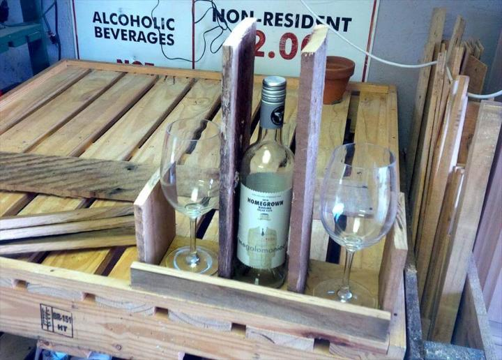 how to decide pallet pieces to build a drink caddy