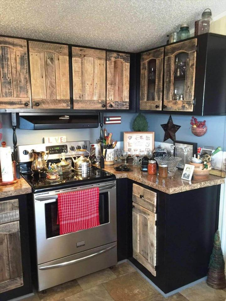 diy kitchen cabinets using old pallets