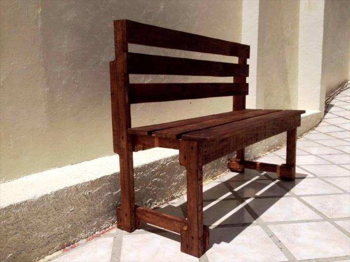 wooden pallet bench seat made out of pallets