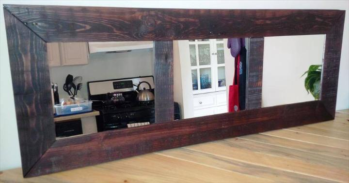 diy pallet long wall mirror