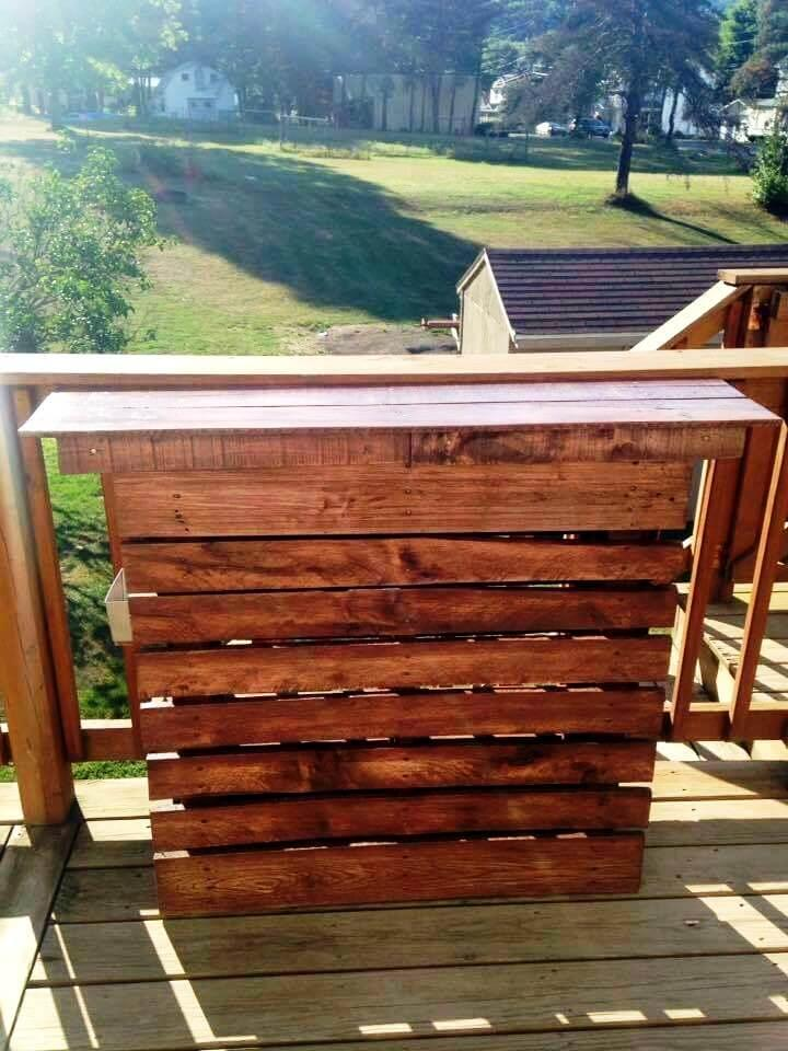 robust wooden pallet outdoor bar