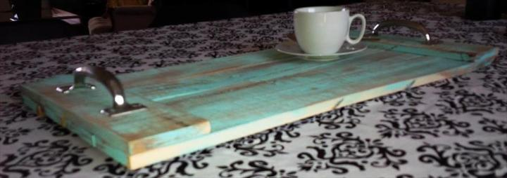 handmade wooden pallet serving tray