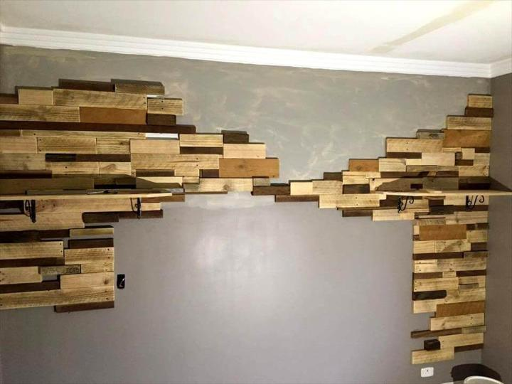 repurposed pallet bedroom background feature wal