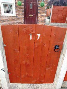 DIY Pallet Gate with House Number for Garden