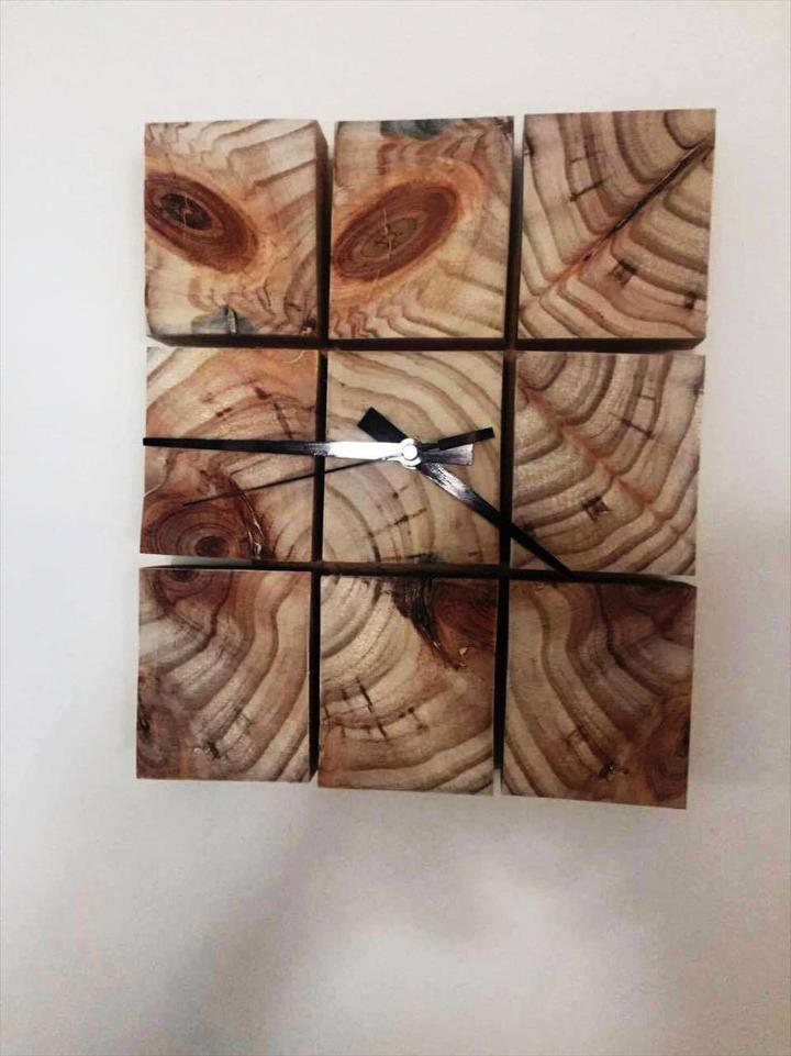 custom rustic pallet wall clock