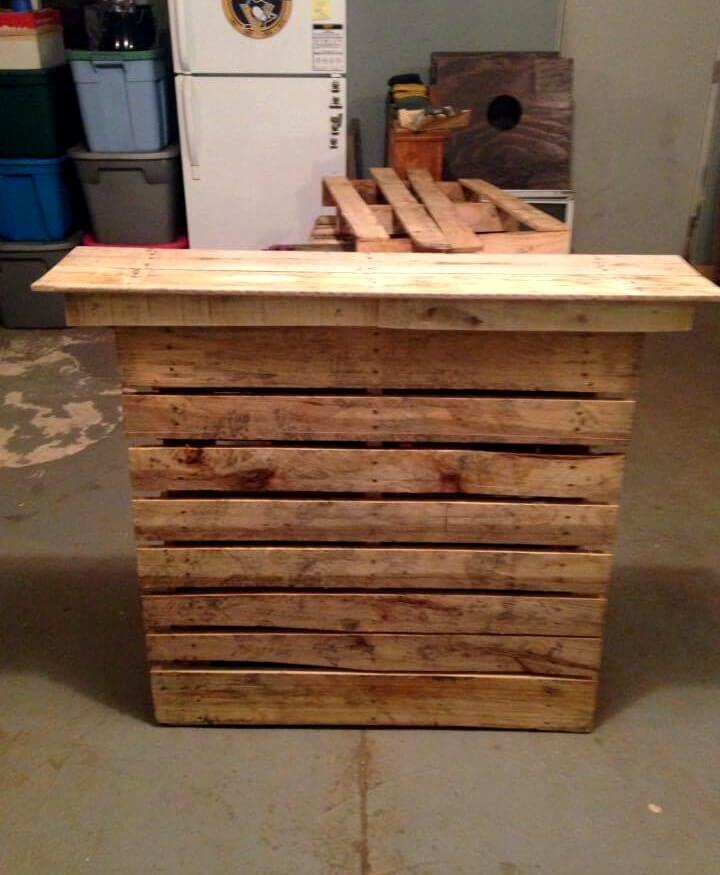 bar table made out of pallets