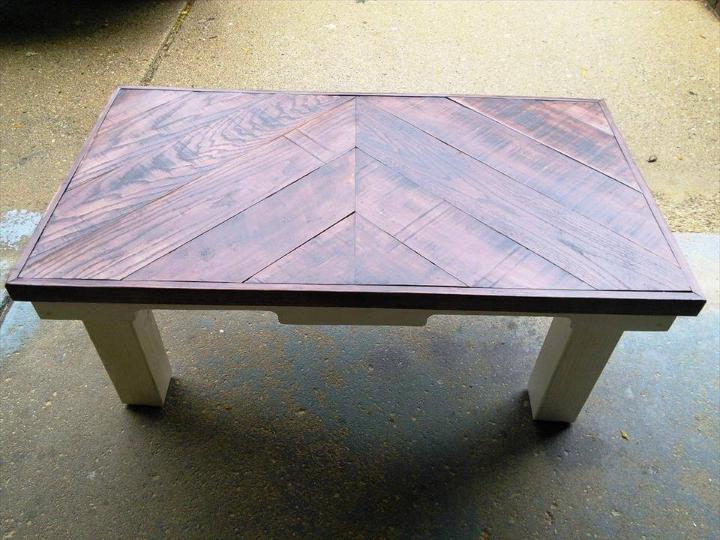 handmade pallet chevron coffee table