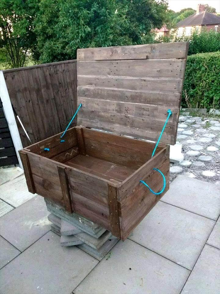 Upcycled Pallet Storage Box - Easy Pallet Ideas