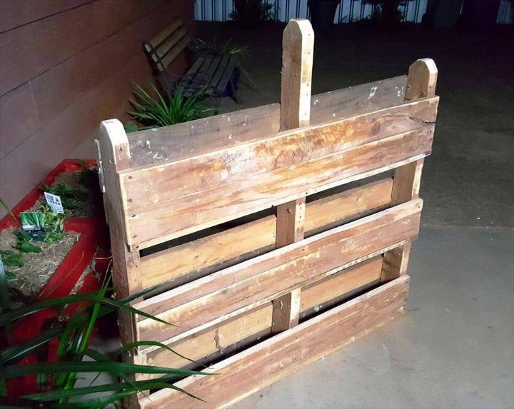 rustic wooden pallet vertical garden
