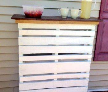 pallet deck bar with original wooden top