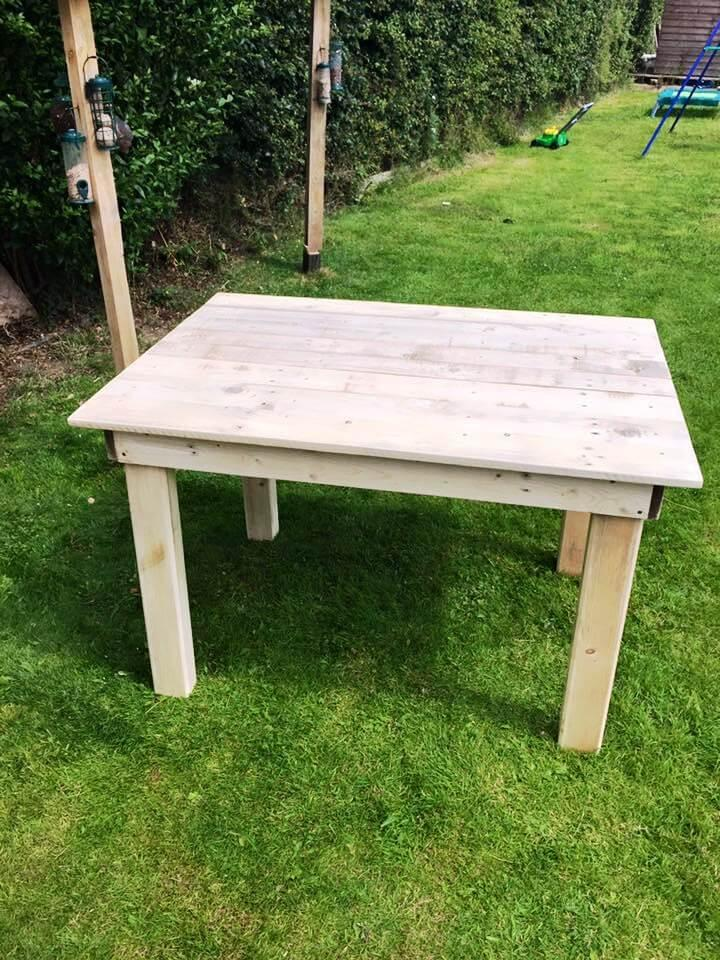 upcycled wooden pallet coffee table