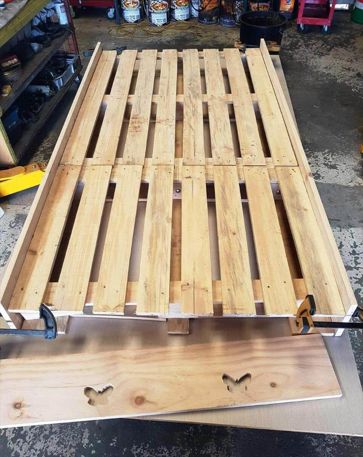 diy pallet and old wood toddler bed