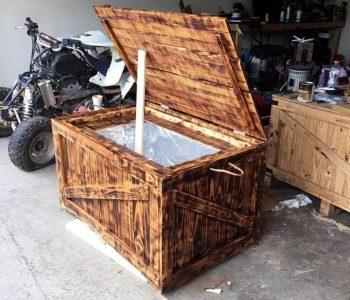 pallet wedding cooler