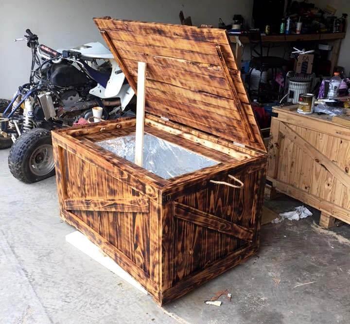 pallet wedding cooler