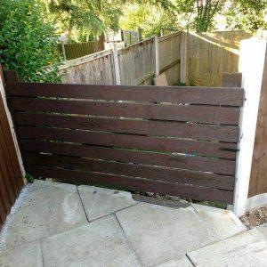 recycled pallet garden gate