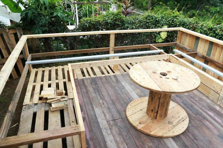 pallet deck or terrace installation