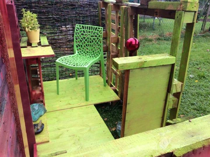handcrafted pallet garden shed or cabin