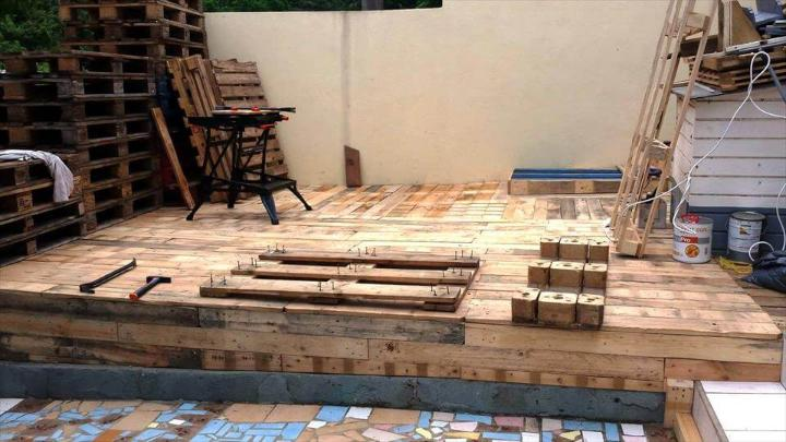 wooden pallet decking project