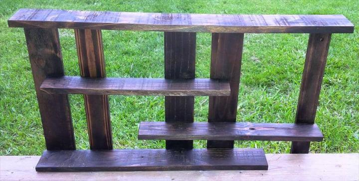 robust wooden pallet bathroom rack