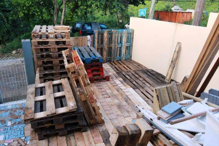 diy wooden pallet home deck