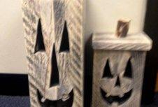 diy pallet Halloween pumpkins