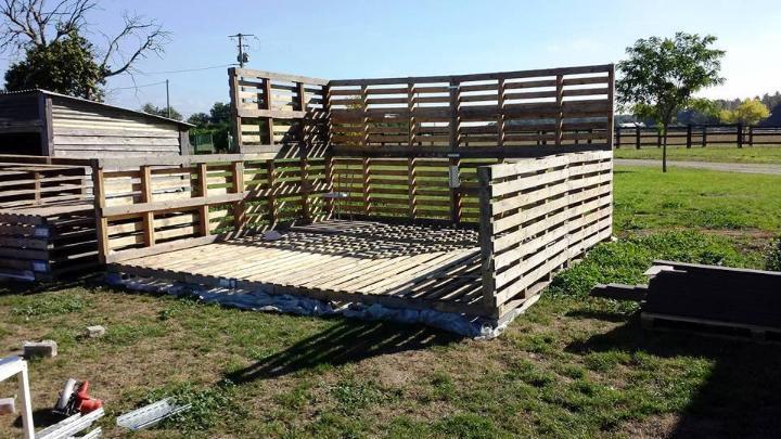 diy pallet garden shed installation