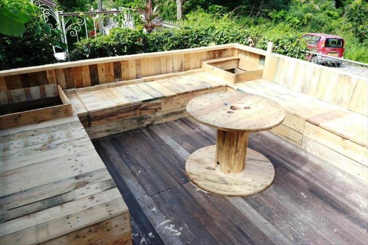 self-installed pallet terrace