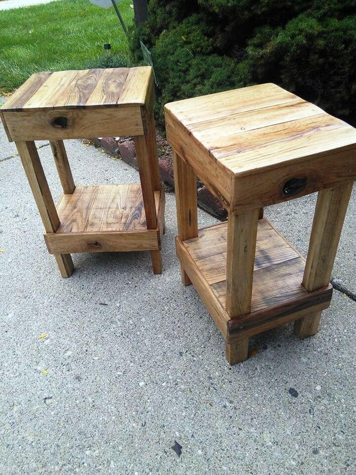 handcrafted pallet stools