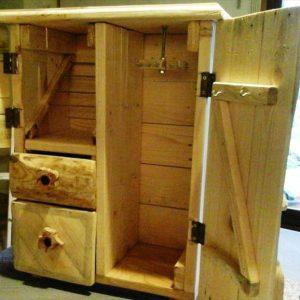 hand-built pallet jewelry box