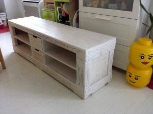 Pallet TV Stand Painted in White