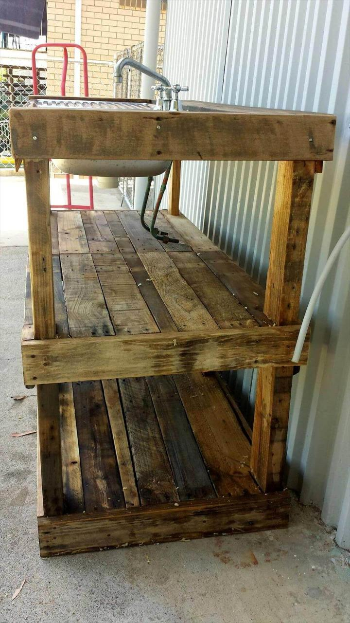 Excellent Pallet Outdoor Fish Filleting Station Easy Pallet Ideas Uwap Interior Chair Design Uwaporg