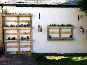 Pallet Planters: Vertical and Wall Hanging with Lights