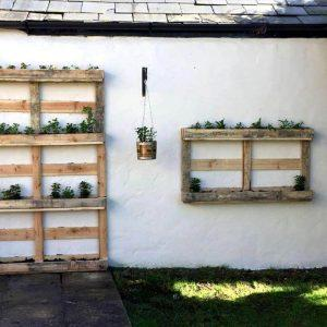 reclaimed pallet vertical and wall hanging planter