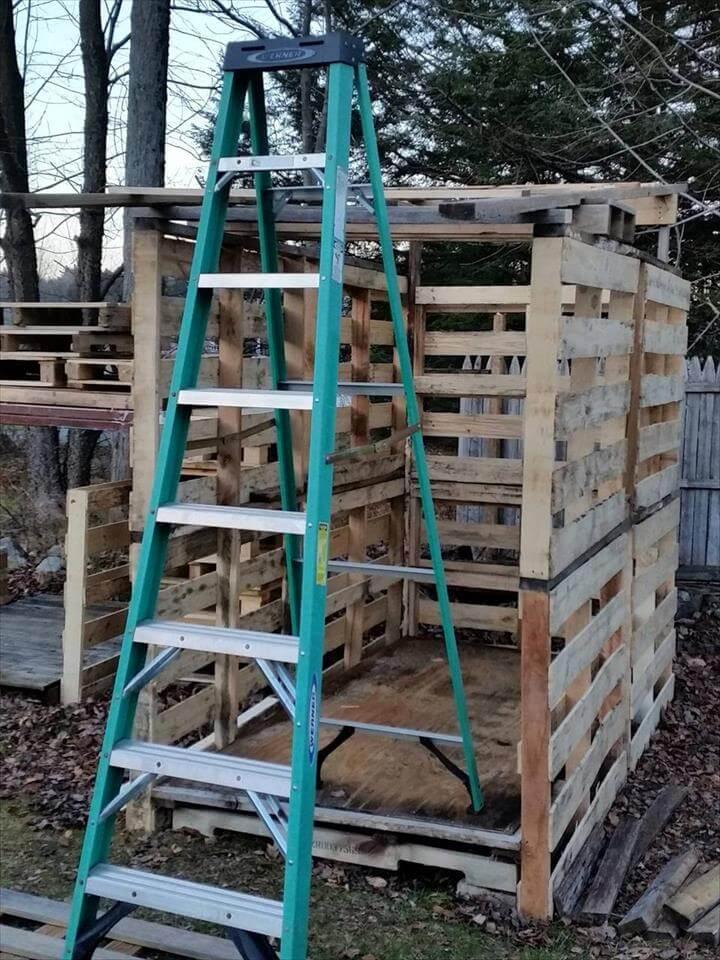 DIY pallet shed roofing