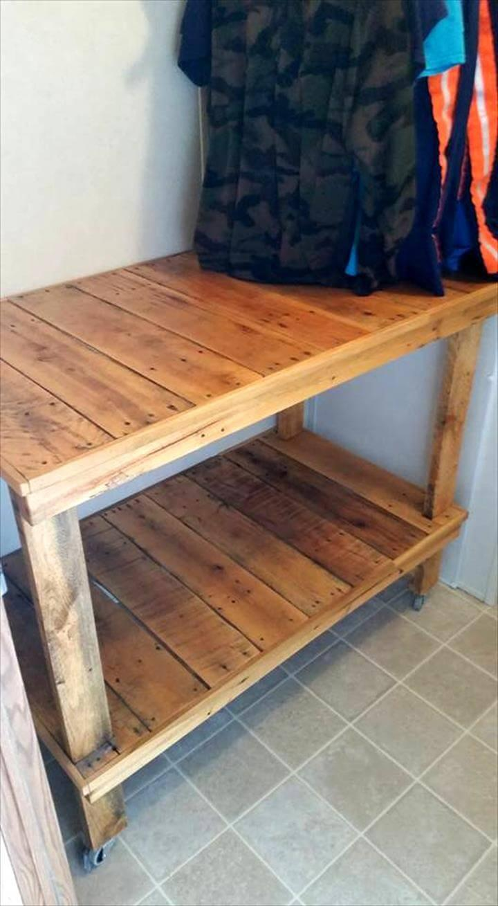 laundry room wooden cart made of pallets