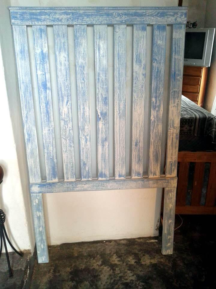 Pallet Toy Box And Single Headboard Easy Pallet Ideas