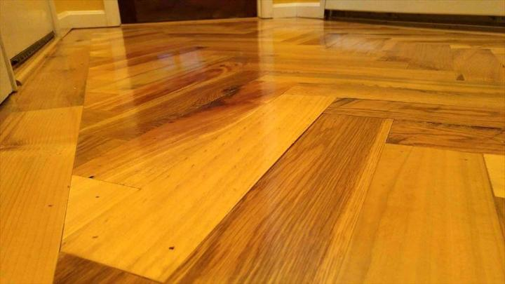 low-cost accent wooden flooring