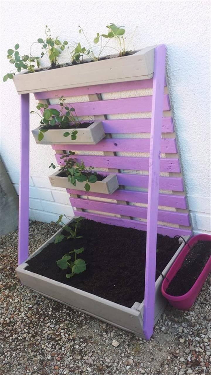 amazing pallet planter