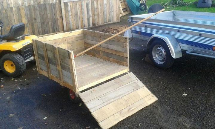repurposed pallet garden cart